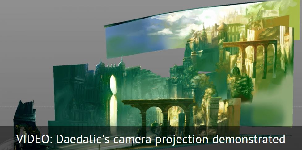 Camera Projection – Daedelic bring painted scenes to life